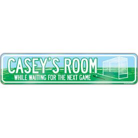 """Field Hockey Aluminum Room Sign Personalized Field Hockey (4""""x18"""")"""