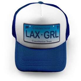 Girls Lacrosse Trucker Hat - License To Play Connecticut