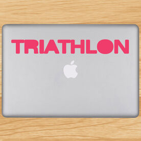 Triathlon Word Removable TRIForeverGraphix Laptop Decal
