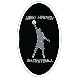 Basketball Oval Car Magnet Personalized  Basketball  Guy