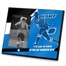 Field Hockey Photo Frame Personalized Field Hockey Player Shooting