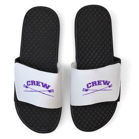 Crew White Slide Sandals - Crossed Oars