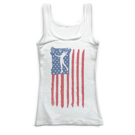 Volleyball Vintage Fitted Tank Top - American Flag
