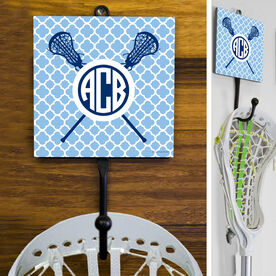 Lacrosse Hook Monogrammed Lacrosse Sticks with Quatrefoil Pattern