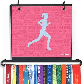 BibFOLIO Plus Race Bib and Medal Display Running Inspiration - Female