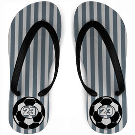 Soccer Flip Flops Personalized Ball