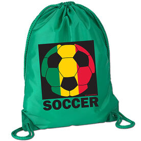Rasta Soccer Sport Pack Cinch Sack