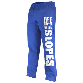 Skiing & Snowboarding Fleece Sweatpants - Life Is Better On The Slopes