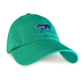 Girls Lacrosse Dog Hat - Seafoam Green