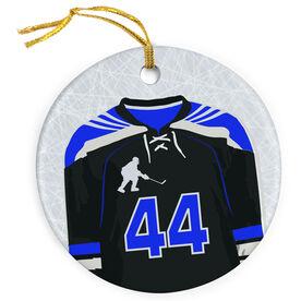 Hockey Porcelain Ornament Personalized Hockey Jersey