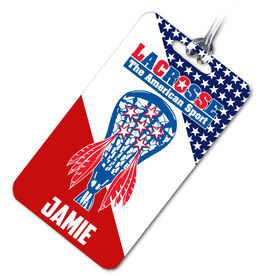 Lacrosse Bag/Luggage Tag Lacrosse. The American Sport