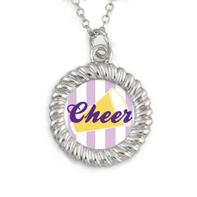 Braided Circle Necklace Cheer with Megaphone