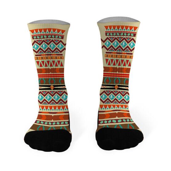 Hockey Printed Mid Calf Socks Tribal