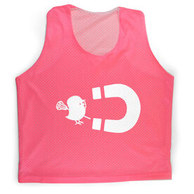 Girls Racerback Pinnie Lacrosse Chick Magnet