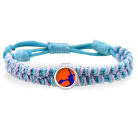 Softball Pitcher Adjustable Woven SportSNAPS Bracelet