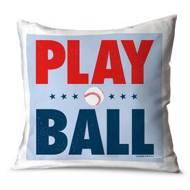Baseball Throw Pillow Play Ball