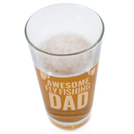 20 oz. Beer Pint Glass Awesome Fly Fishing Dad