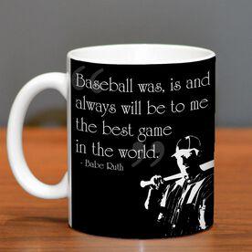 Baseball Ceramic Mug Best Game In The World Quote