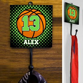 Basketball Hook Personalized Basketball with Dots Background
