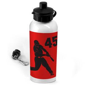 Baseball 20 oz. Stainless Steel Water Bottle Personalized Batter
