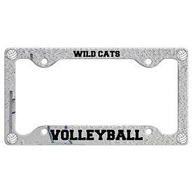 Custom Volleyball Team License Plate Holders