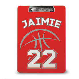 Basketball Custom Clipboard Basketball Player Number
