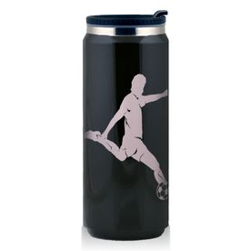 Stainless Steel Travel Mug Soccer Player Guy Silhouette