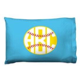 Softball Pillowcase - Monogrammed