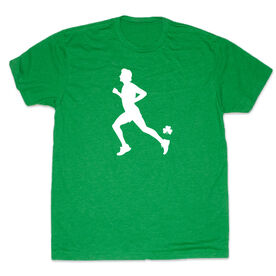 Men's Lifestyle Runner's Tee Male Runner With Shamrock