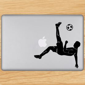 Bicycle Kick Removable ChalkTalkGraphix Laptop Decal