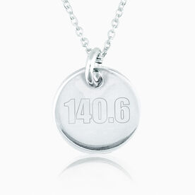 Sterling Silver 140.6 Engraved 20mm Pendant Charm