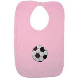 Baby Bib with Soccer Embellishment