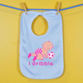 Soccer Baby Bib I Dribble Soccer Girl