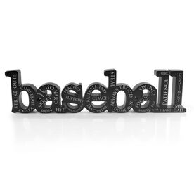 Baseball Dad Engraved Wood Words
