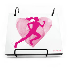 BibFOLIO® Race Bib Album - Watercolor Heart Girl