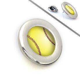 Softball Lapel Pin Stitched Softball