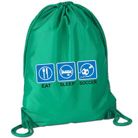 Eat Sleep  Soccer Sport Pack Cinch Sack