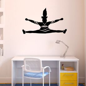 Cheerleader Toe Touch Silhouette Removable ChalkTalkGraphix Wall Decal