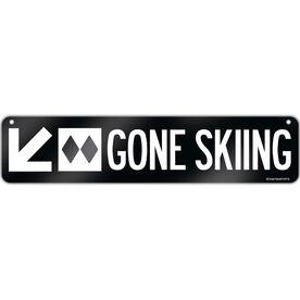 "Skiing Aluminum Room Sign Gone Skiing (4""x18"")"