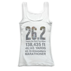 Running Vintage Fitted Tank Top - 26.2 Math Miles