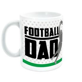 Football Ceramic Mug Dad with Silhouette