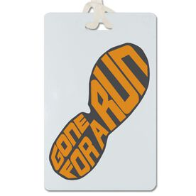 Gone For a Run (Orange Shoe) Personalized Sport Bag/Luggage Tag