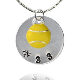 Sterling Silver Hand Stamped Pendant & Silver Plated and Enamel Tennis Necklace