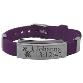 Personalized Triathlete Silicone Bracelet