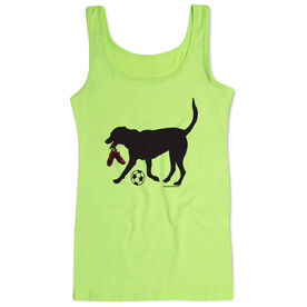 Soccer Women's Athletic Tank Top Sammy The Soccer Dog