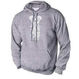Guys Lacrosse Standard Sweatshirt - We Lax Free Because Of The Brave