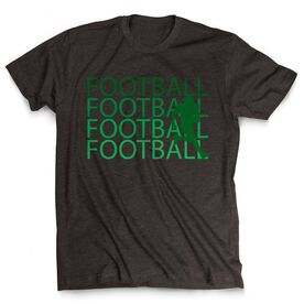 Football Tshirt Short Sleeve Football Fade