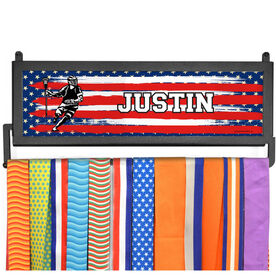 AthletesWALL Medal Display - USA Laxer with Your Name