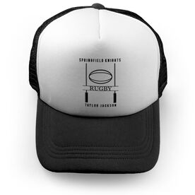 Rugby Trucker Hat - Personalized Crest