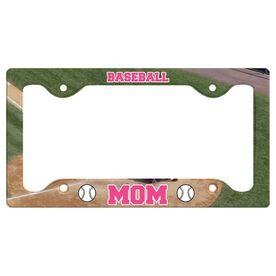 Baseball Mom License Plate Holder